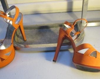Tendance sally O /'Hara Femmes sling//sandale rose cuir veritable NEUF!!!