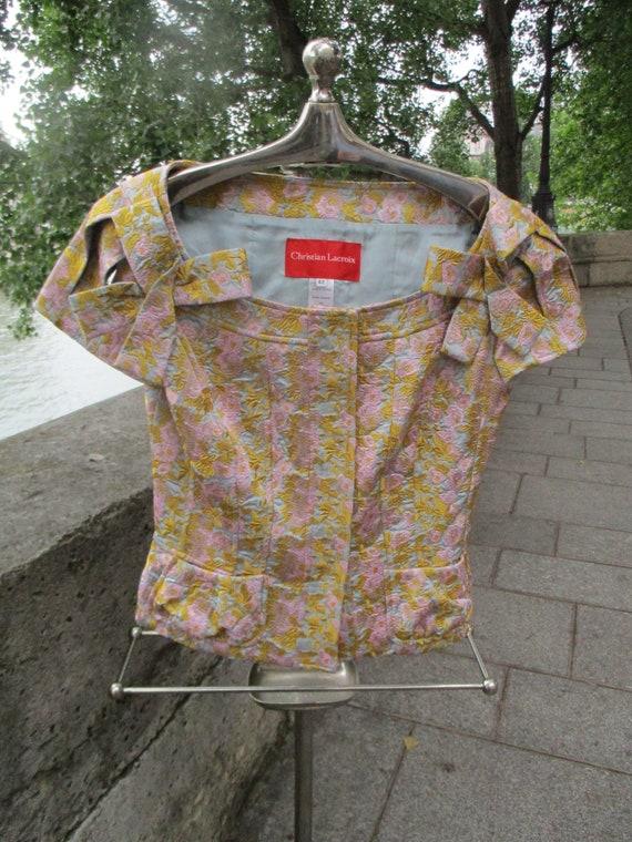 CHRISTIAN LACROIX brocade jacket and skirt design… - image 5