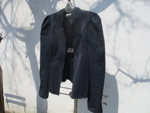 MIU MIU blue cotton jacket puffed sleeves and tail