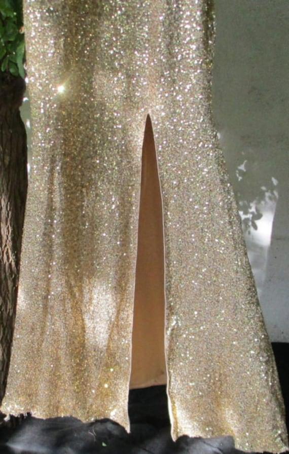 LONG GOLD DRESS long dress small golden sequins