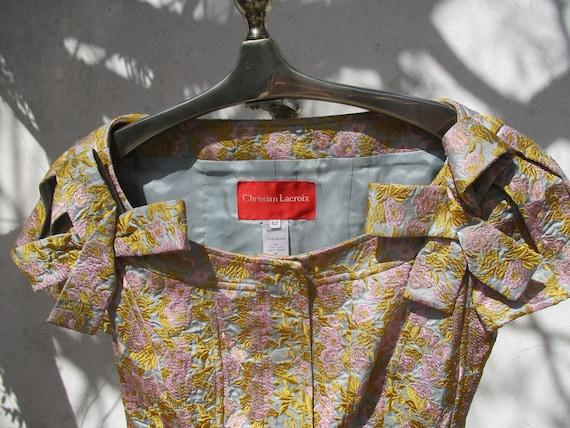 CHRISTIAN LACROIX brocade jacket and skirt design… - image 3
