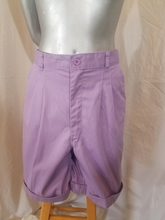 REDUCED 1970s Shorts // Lavender Purple Polyester