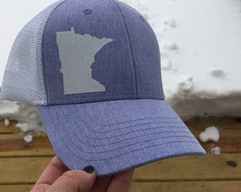 6599af27e68 Minnesota Hat  Minnesota Baseball Hat  Minnesota Trucker Hat  Minnesota   Minnesota Crafted  Birthday Gift  Mothers Day