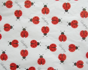 Ladybug Tissue Paper (4 sheets - 20 by 30 inches)