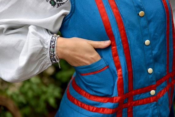 Blue/red Ukrainian Vintage Korset Antique Ukraini… - image 9
