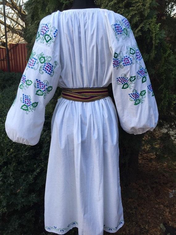 Ukrainian traditional green vyshyvanka vintage| u… - image 9