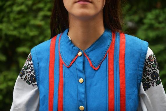 Blue/red Ukrainian Vintage Korset Antique Ukraini… - image 6