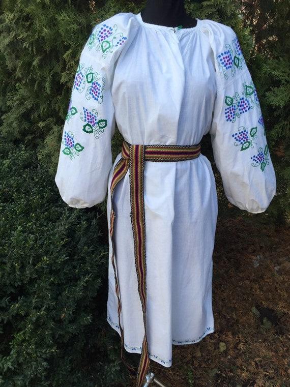 Ukrainian traditional green vyshyvanka vintage| u… - image 3