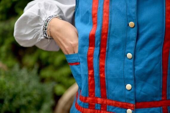 Blue/red Ukrainian Vintage Korset Antique Ukraini… - image 8