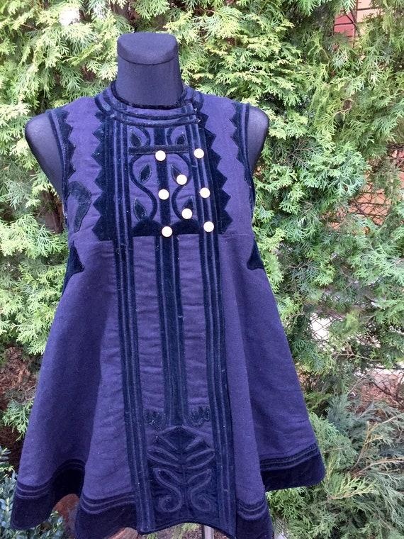 Purple/black ukrainian vintage woolen corset ukrai