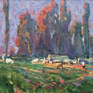 Oil painting Autumn wind Kalenyuk Alex original picture painter signed art work /& collectibles kitchen decor