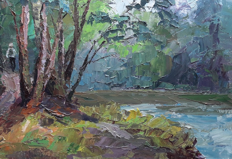 Reserved pls don\u2019t buy Oil painting Summer day Serdyuk Boris Petrovich original picture painter landscape signed art work /& collectibles