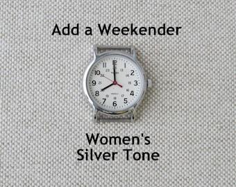 Add a Timex Women's Weekender Watch Face, Silver Tone