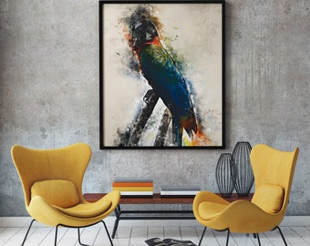 Macaw Watercolor Print