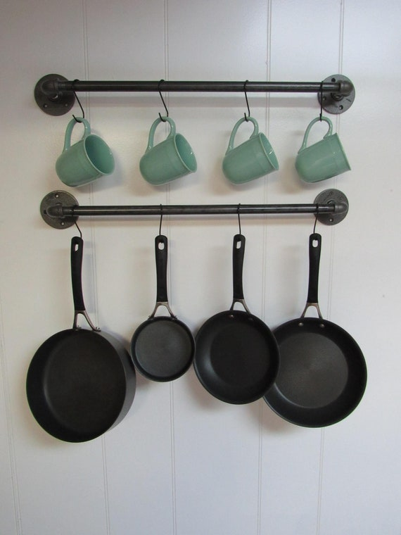 Coffee Mug Hanger Pots Pans Hanging Wall Storage Bar Etsy