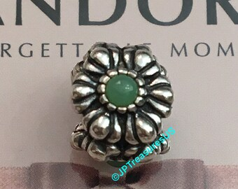 a01e4b0c6 ... Authentic Pandora Birthday Blooms May Chrysoprase Charm Retired Pandora  Birthstone Charm ...