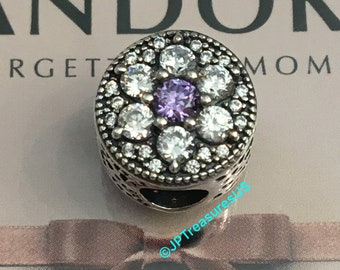 5205a89bc Authentic Pandora Sparkling Forget Me Not CZ Retired Pandora Flower Charm  Cubic Zirconia Pandora Free Shipping