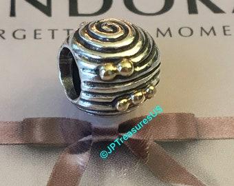 50b1798bb Authentic Pandora Ebb & Flow Charm Two Tone Retired Pandora Charm Pandora  Free Shipping