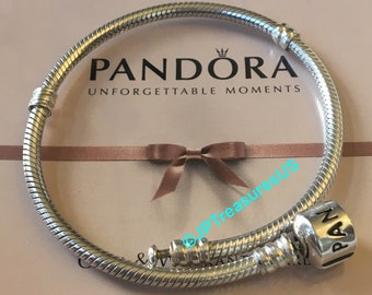 "3110a2f1308 Authentic Pandora Bracelet Sterling Silver Barrel Clasp 7.1"" (18cm) Pandora  Free Shipping"