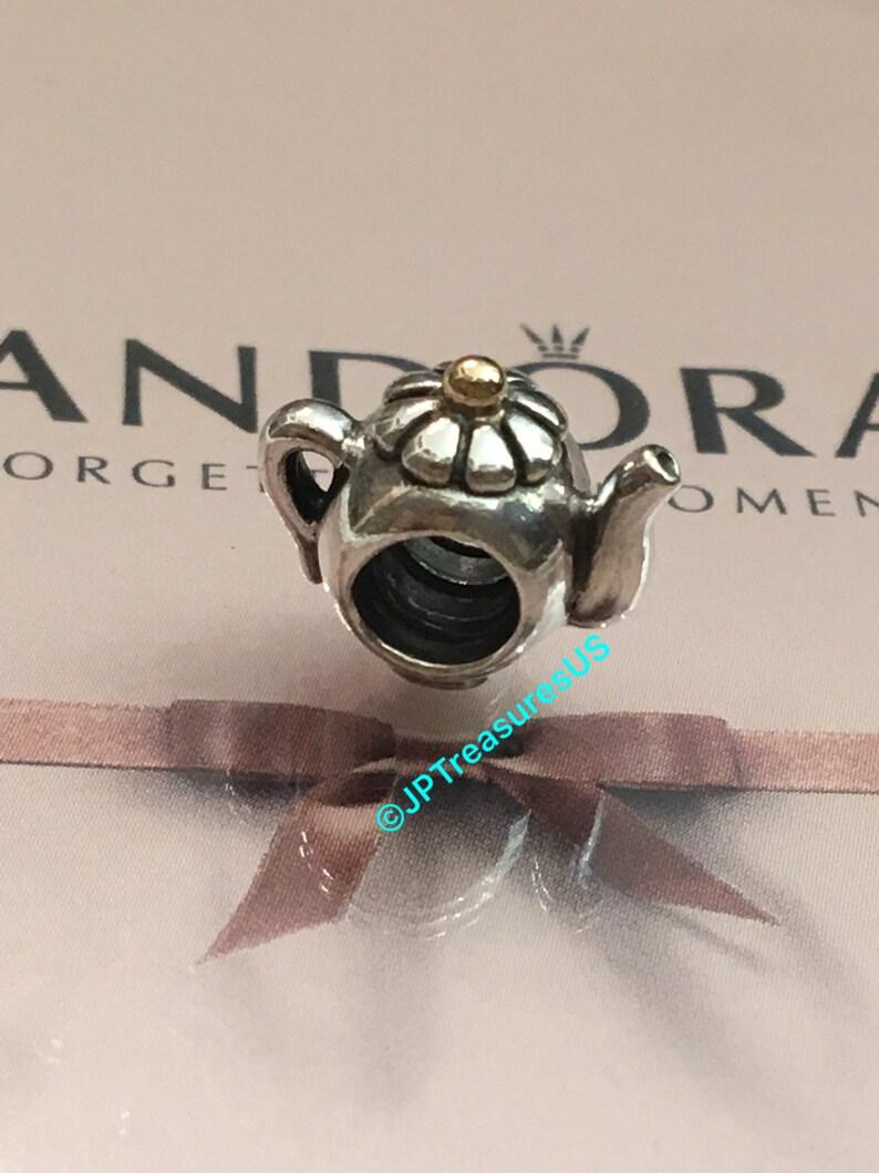d6e4097c3 Authentic Pandora Teapot Charm Two Tone Retired Pandora Charm | Etsy
