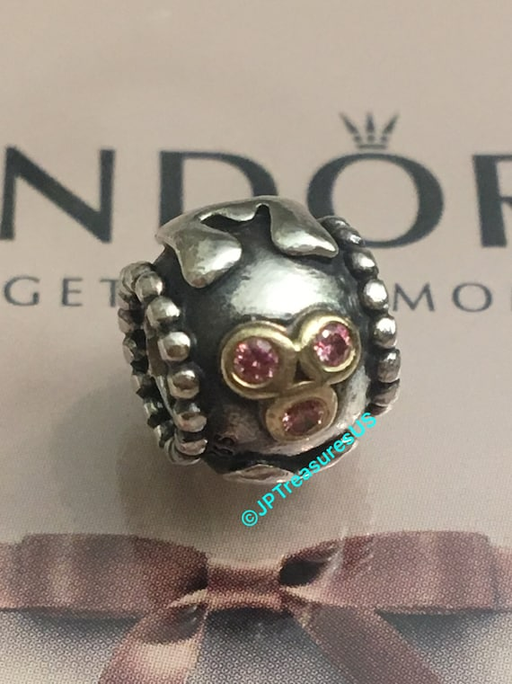 154a39222 Authentic Pandora Mom Charm Retired Pandora Charm Two Tone and   Etsy