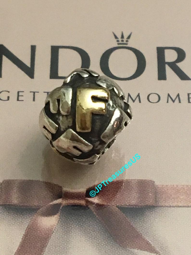 d6e8880c6 Authentic Pandora Letter F Charm Pandora Alpha F Charm Two | Etsy