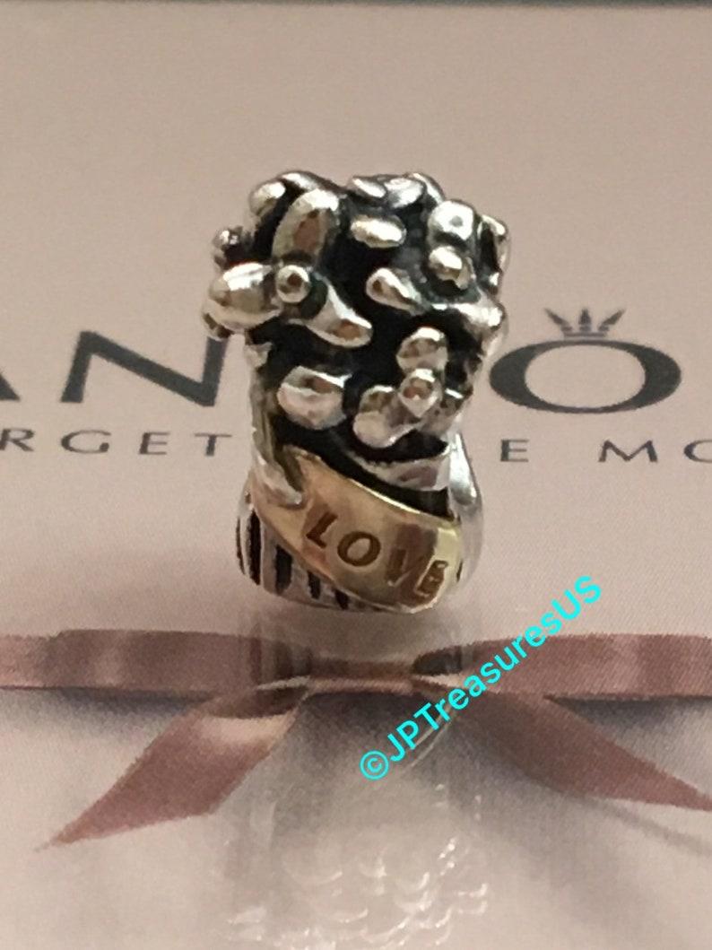 c2931078e Authentic Pandora Bouquet Flowers Charm Two Tone Retired | Etsy