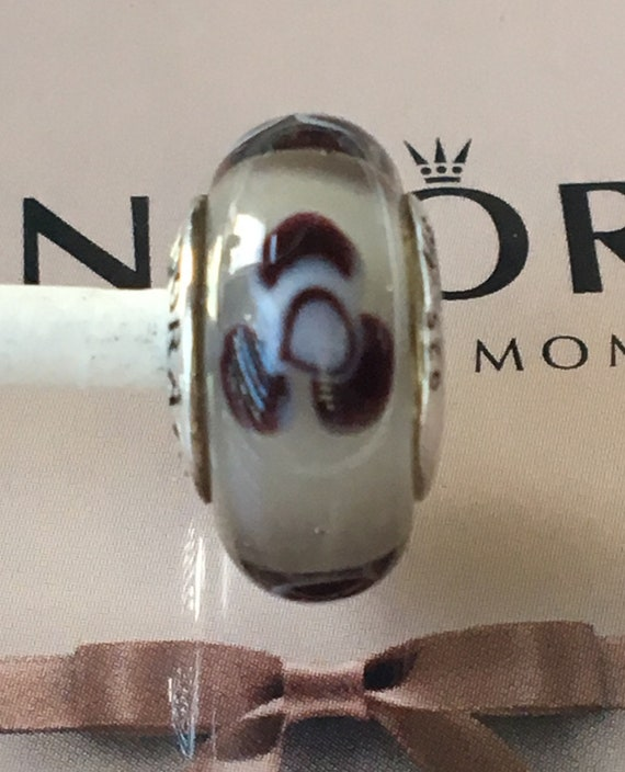 42d9be914 Authentic Pandora Flowers For You Murano Glass Charm Retired   Etsy
