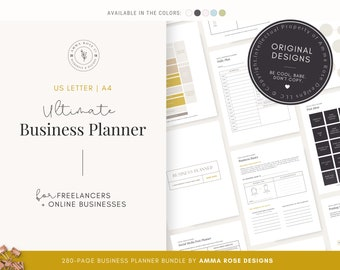 Business Planner Printable | Business Planner PDF | Business Planning | Business Planner | Business Bundle | 2021 Business | Small Business