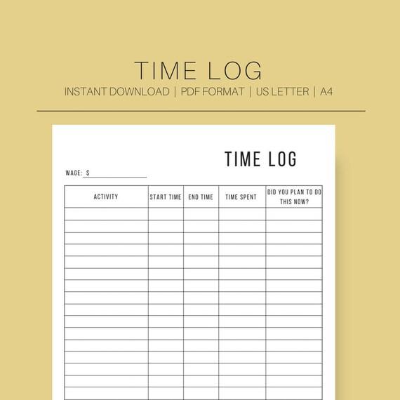 time log time management time sheet time management etsy