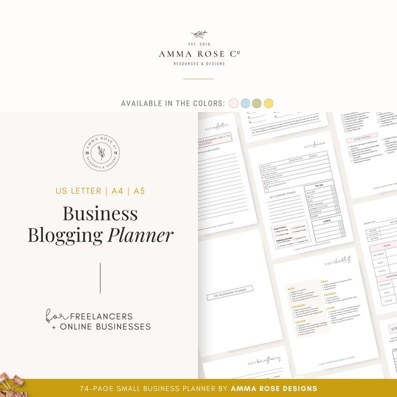 Printable Blog Workbook Blog Planner Blog Post Planner image 0