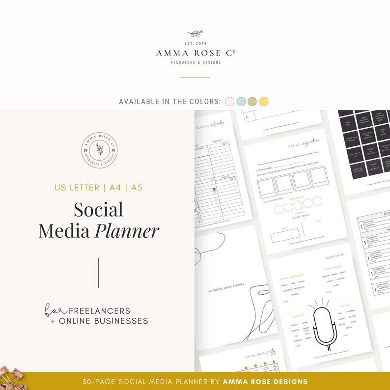 Social Media Planner  Business Planner  Social Media Plan  image 0