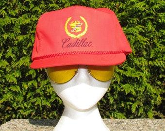 7b1f8024b1aac Red Cadillac High Pro Baseball Hat  Cap  Lid