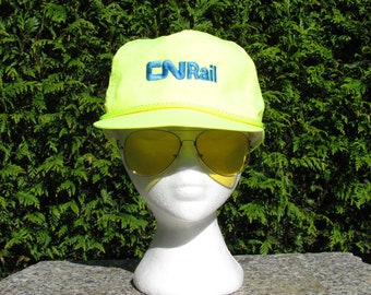 CN Rail Hi-Vis Trucker Snapback Baseball Hat  Cap  Lid bc4abfa1e22f