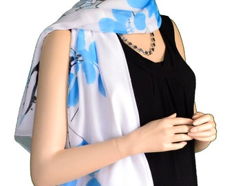 Sunshield Scarf Blossom & Branches Collection Blue