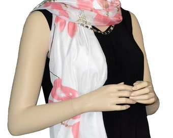 Sunshield Scarf Blossom & Branches Collection Pink