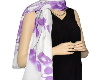 Sunshield Scarf Blossom & Branches Collection Violet
