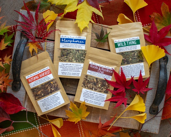 Fall Tea Collection   4 Organic Loose Leaf Medicinal Herbal Teas To Strengthen Your Immune System, Boost Your Mood, And Warm You Up! by Etsy