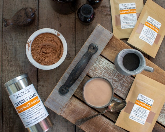 Adaptog Energy Super Cacao   Organic Medicinal Mushroom & Superfood Cocoa (With Adaptogens And Herbs For Natural Energy And Stress Relief) by Etsy