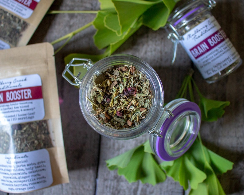 Brain Booster - Organic Loose-Leaf Medicinal Herbal Tea (for improved  focus, concentration, and memory)