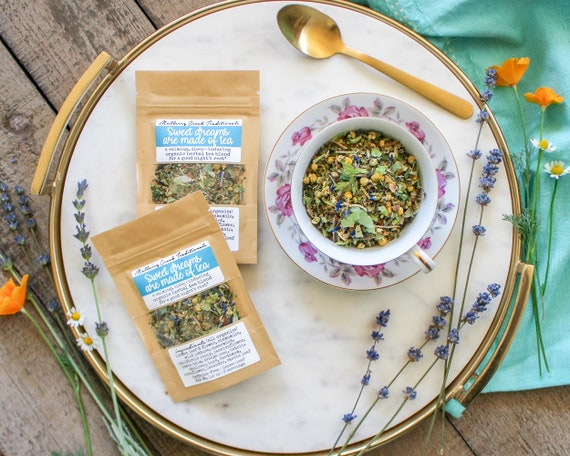 Sweet Dreams Are Made Of Tea   Organic Loose Leaf Medicinal Herbal Tea (A Calming, Sleep Inducing Blend For A Good Night's Rest) by Etsy