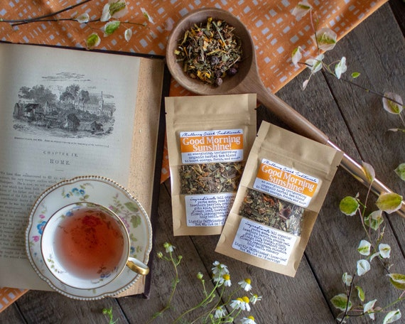 Good Morning Sunshine!   Organic Loose Leaf Medicinal Herbal Tea (To Boost Energy, Focus, And Mood) by Etsy