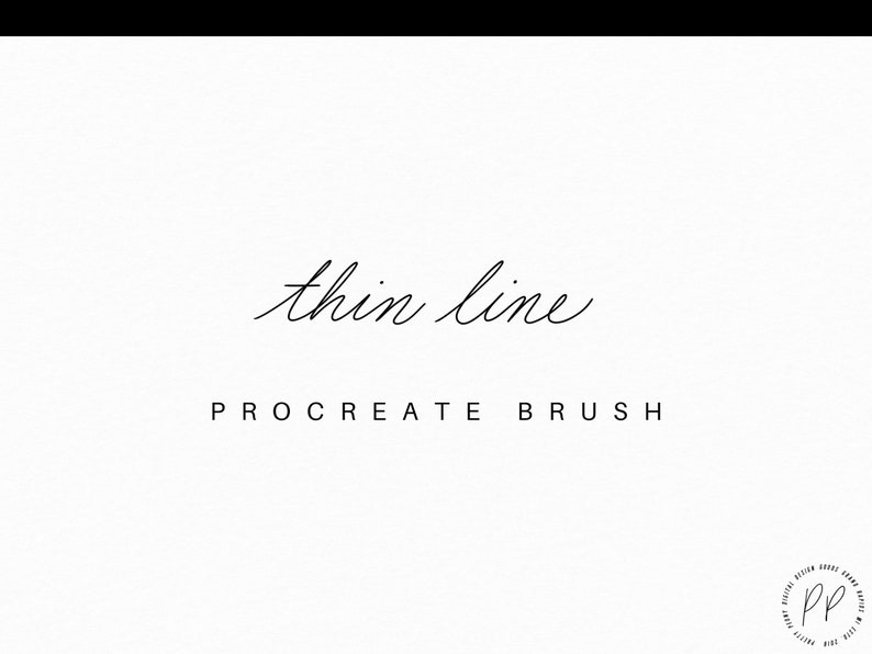 Thin Line Procreate Brush – Hand lettering – iPad Lettering – Calligraphy  Brushes – Digital Calligraphy – Brush for iPad – Brush Lettering