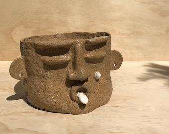 BERT: Ceramic Face Planter