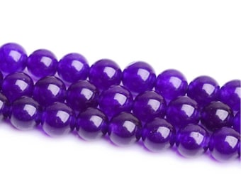 for jewelry making Beads,6.8.10.12mm Size available Round polished/&Smooth Chalcedony Bead. Light Purple Chalcedony Stone Beads A