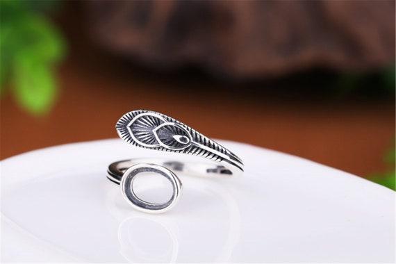6 Vintage Silver Toned Adjustable Ring Blank