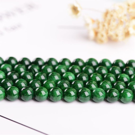 """4mm 6mm 8mm 10mm 12mm 14mm Natural Smooth Pink Jade Round Gem Loose Beads 15/""""AAA"""