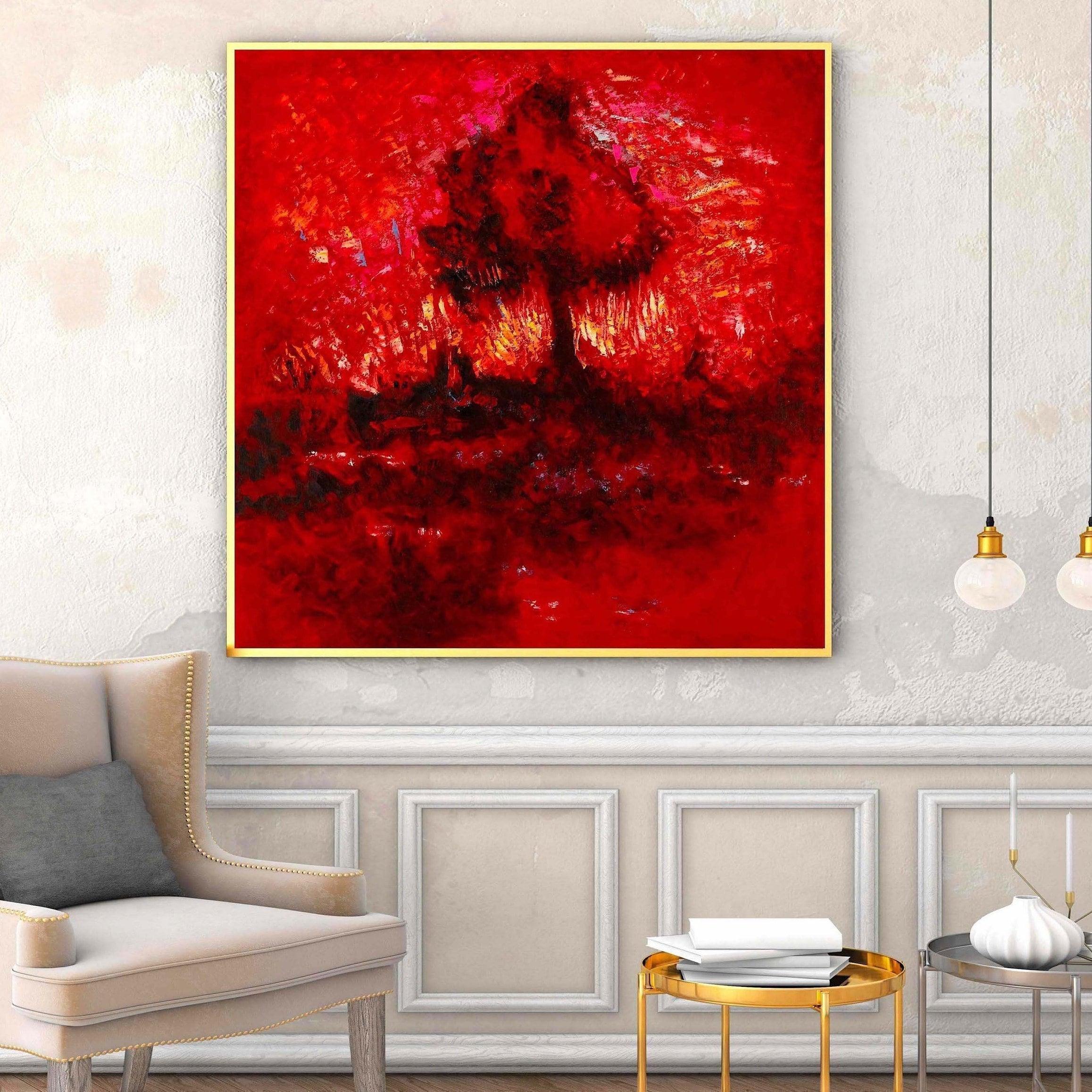 L gem lde abstrakt auf leinwand wand kunst bilder f r for Wand kunst wohnzimmer