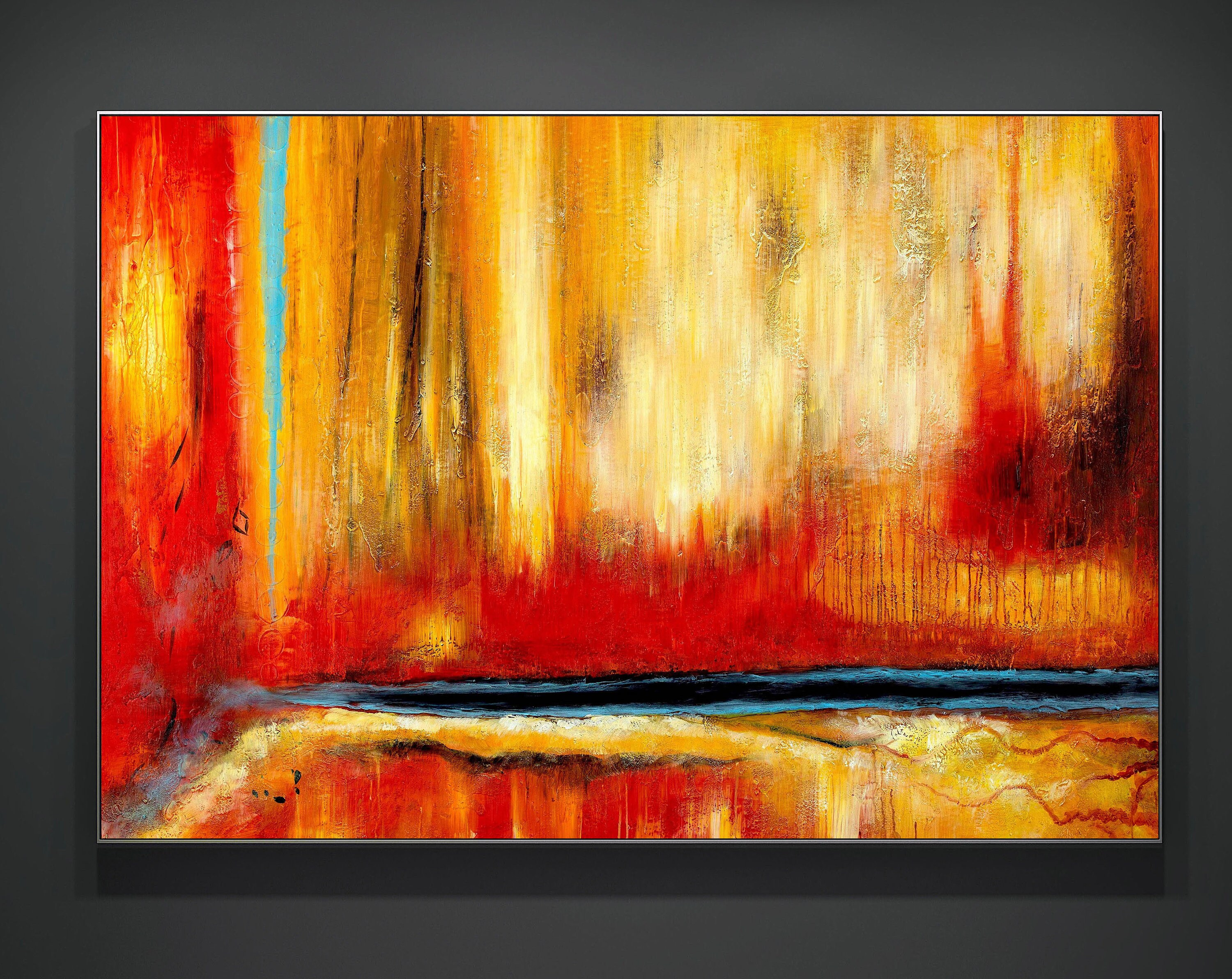 Great Abstract Painting Acrylic Painting Acrylic On Canvas