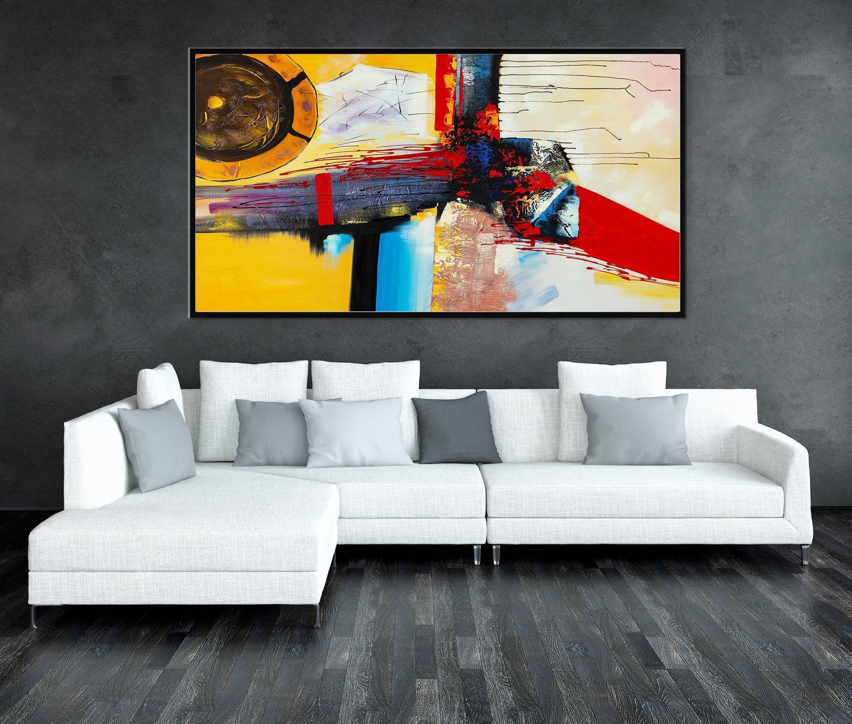 Gr e acrylgem lde malerei auf leinwand wand kunst for Wand kunst wohnzimmer
